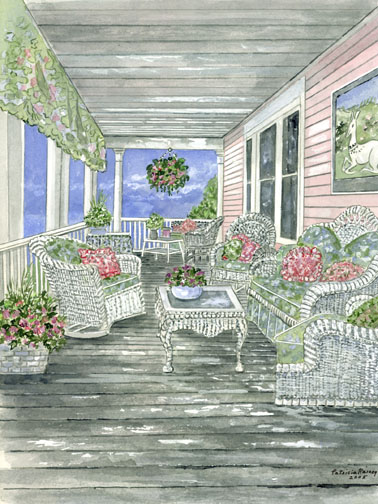 pink _ green porch